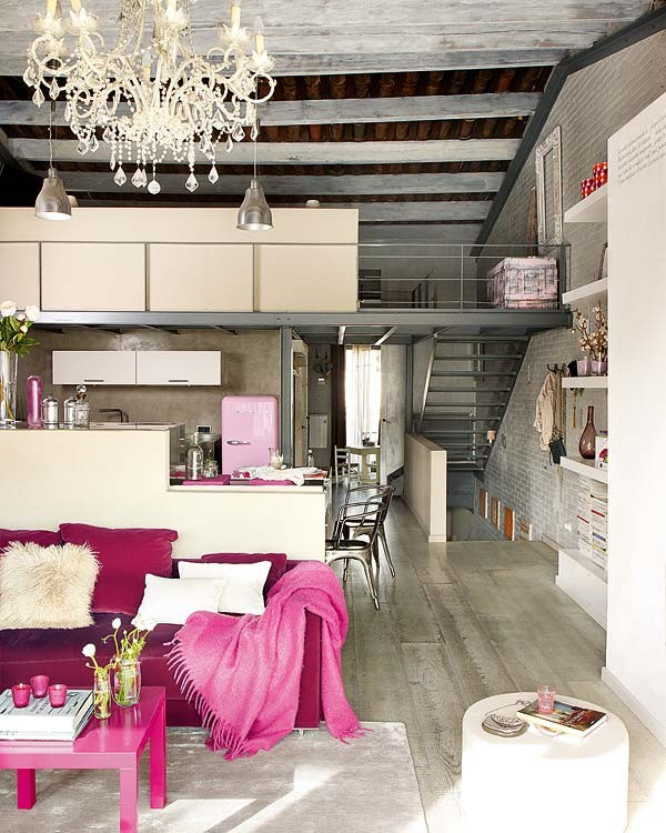 NotAPaperHouse.com pink interior 3 Loft Apartment With Vintage Details