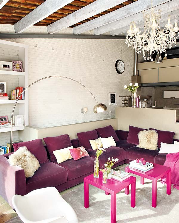 NotAPaperHouse.com pink interior Loft Apartment With Vintage Details