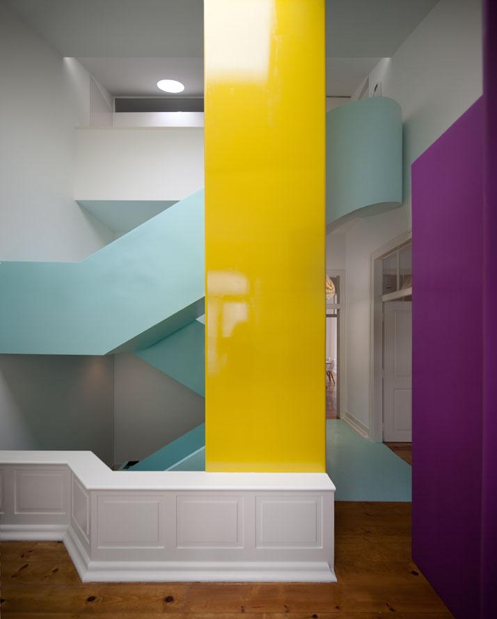 Multicolor and Contemporary Interior in Portugal