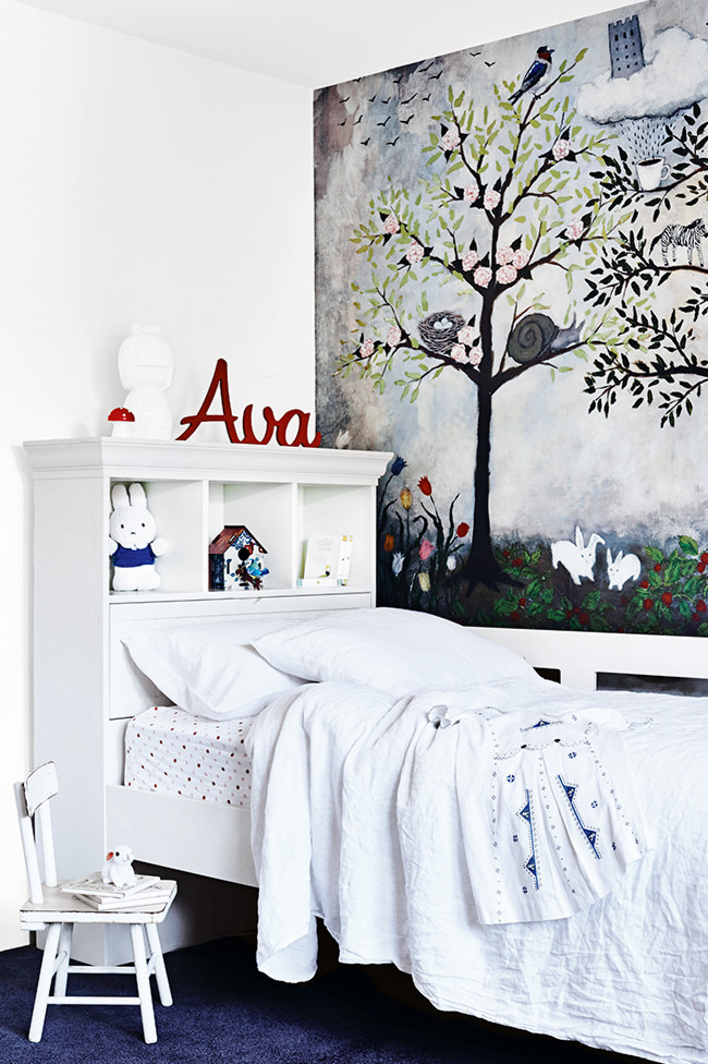 Modern melbourne family home your no 1 source of for Anthropologie enchanted forest mural