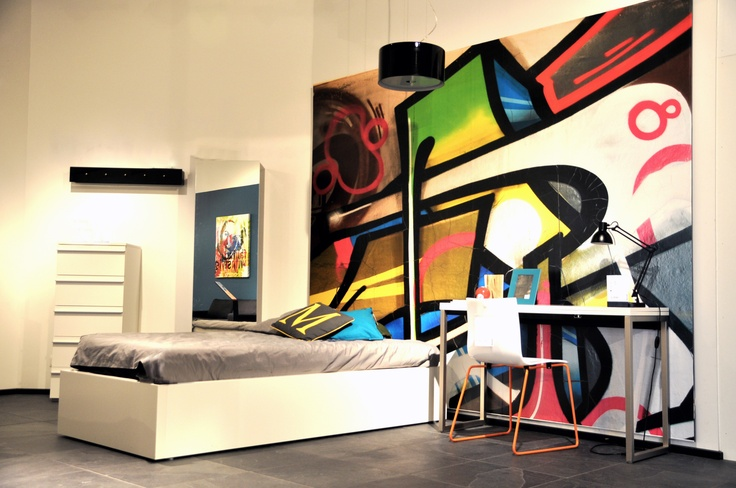 Graffiti Bedroom Decorating Ideas Iron and Wine Graffiti