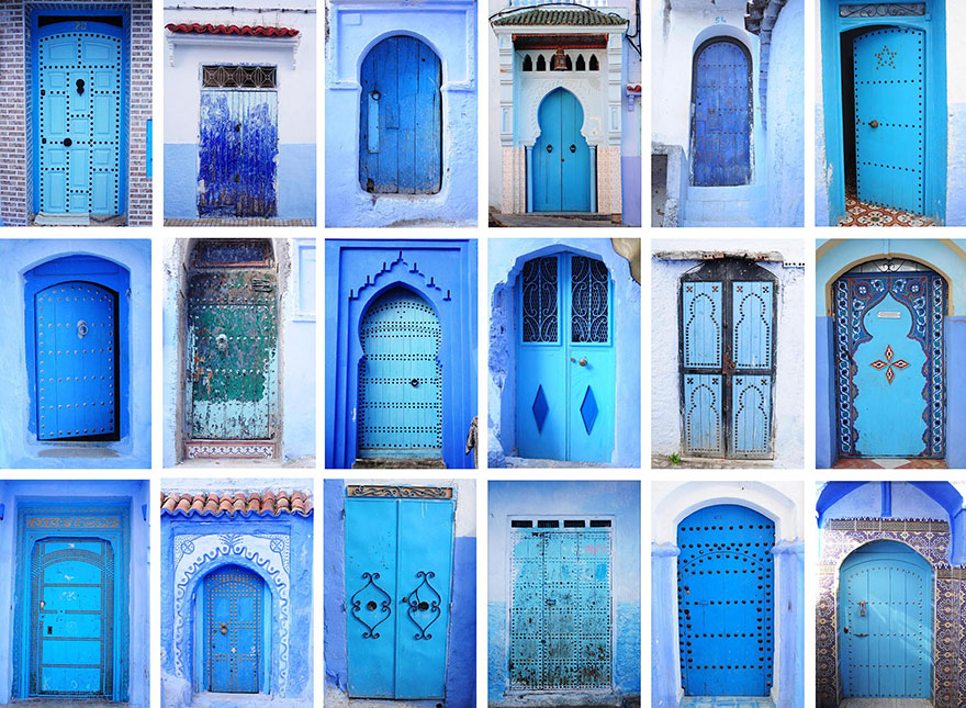 114.1 Blue, Even Green Old Town in Marocco