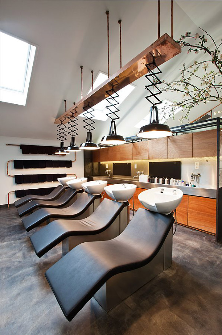 Mogeen hair salon Amsterdam 08 15 Ideas For A Stylish Beauty Salon