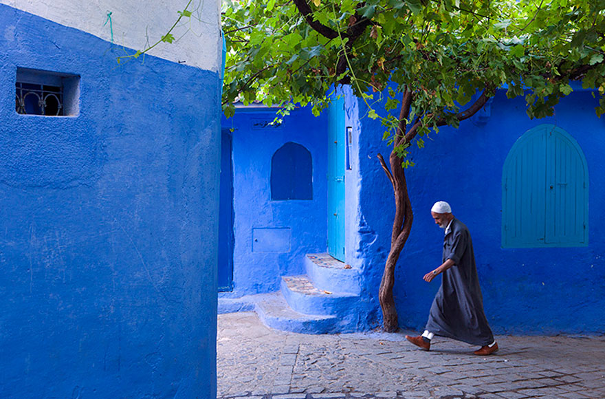 Blue, Even Green Old Town in Marocco