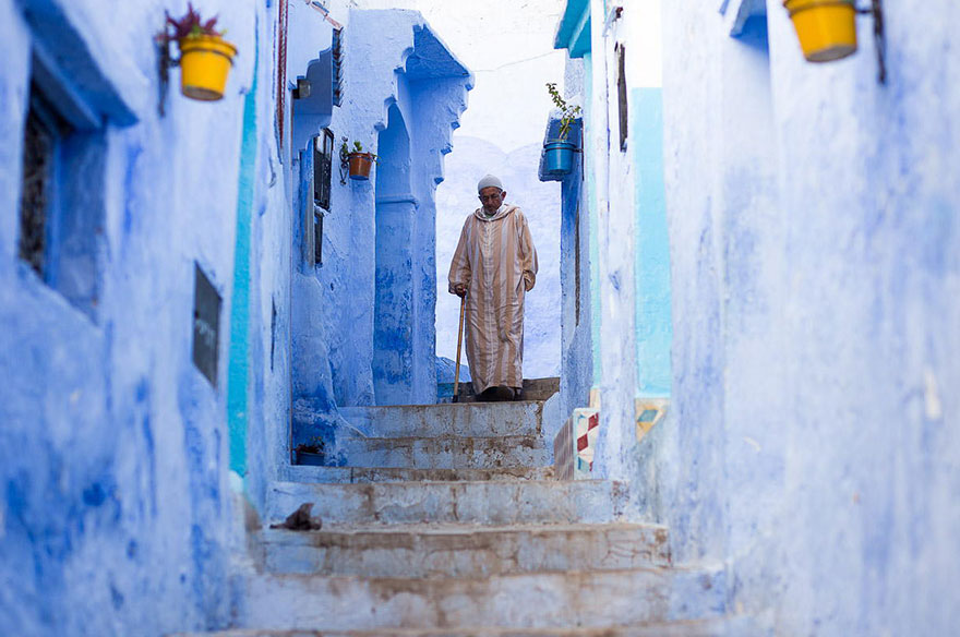 blue3 Blue, Even Green Old Town in Marocco