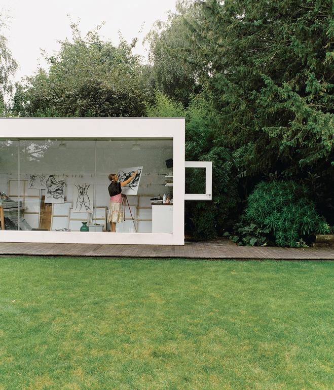 House Backyard Extension : brenner house art stuiod view from backyard Modern Extension to a