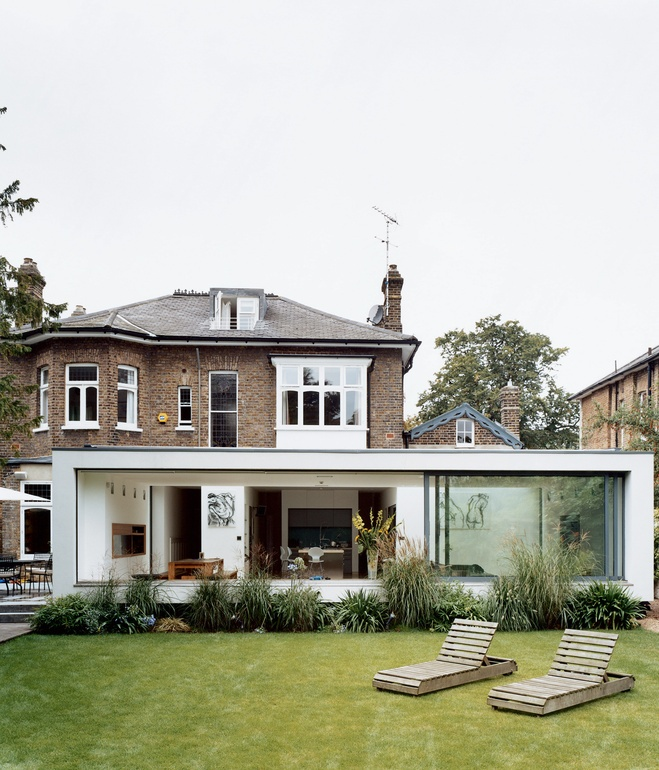 brenner house backyard Modern Extension to a Victorian House