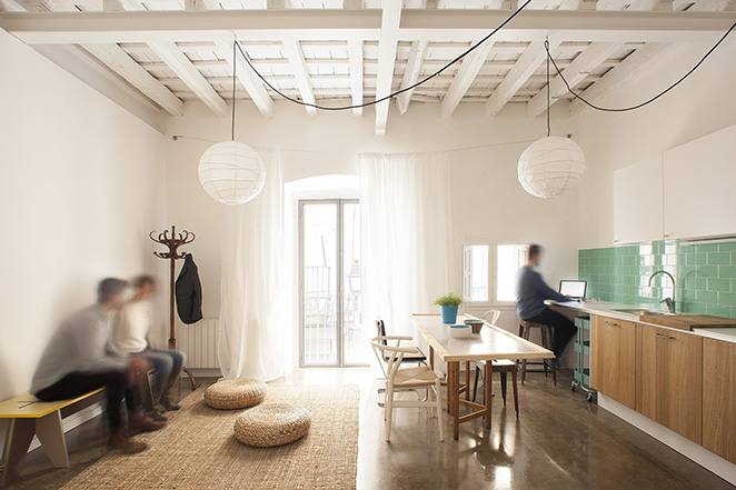 twin011 Apartments In Barcelona by Spanish Studio Nook Architects