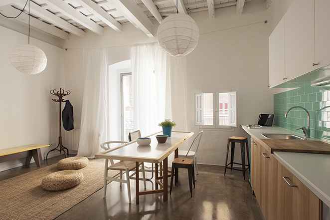 twin031 Apartments In Barcelona by Spanish Studio Nook Architects