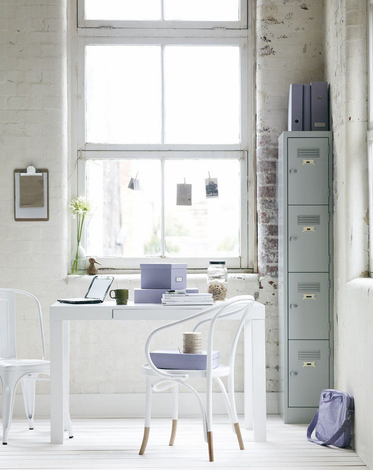 industrial style home workplace Home Office: How To Create A Scandinavian Feeling