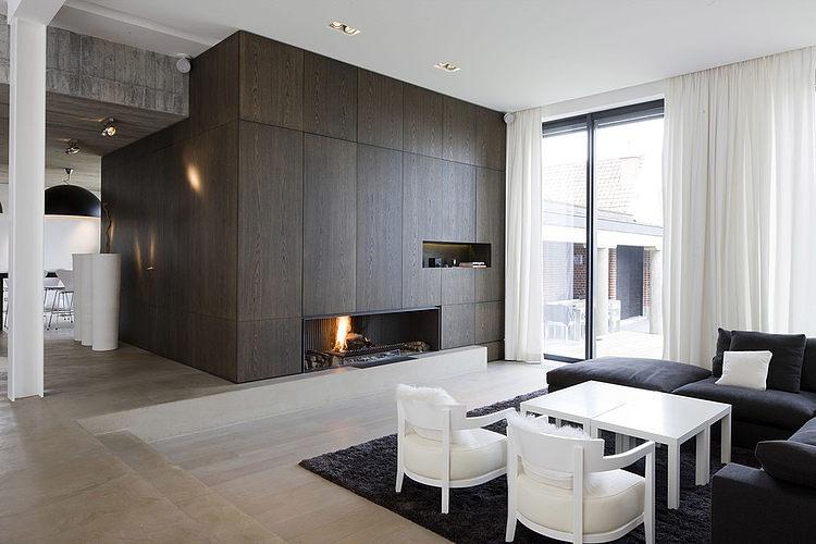 004 modern home guillaume da silva Modern minimalism in France