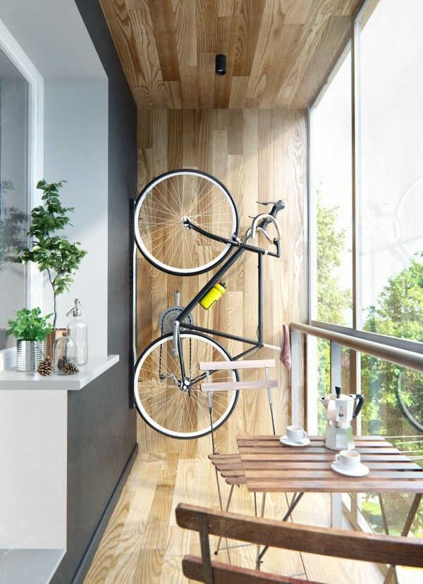 balcony storage idea 30 Creative Bicycle Storage Ideas