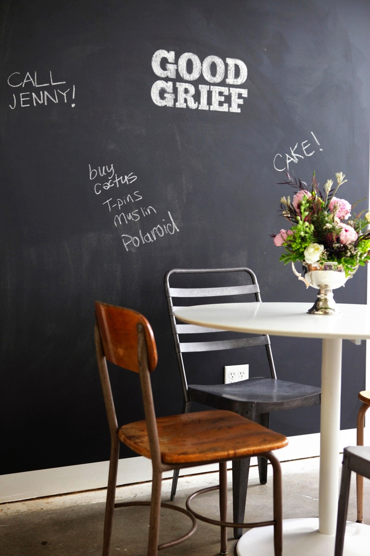 big chalkboard wall 32 Chalkboard Decor Ideas