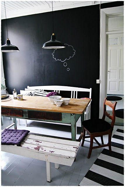chalk wall 32 Chalkboard Decor Ideas