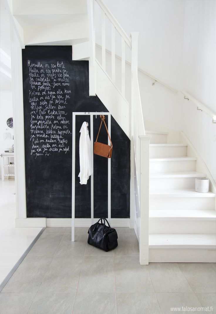 chalkboard under the stairs 32 Chalkboard Decor Ideas