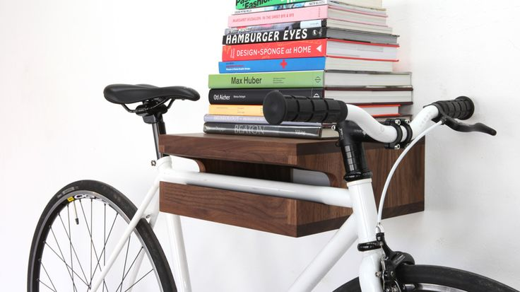 elegant wooden shelf Bike Storage Ideas: 30 Creative Ways of Storing Bike Inside your Home