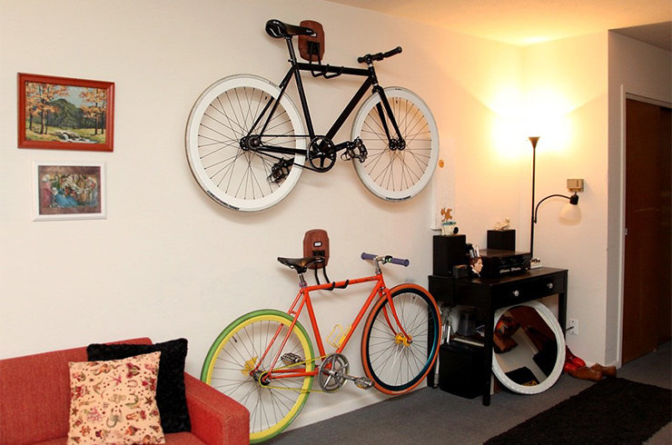 fixie racks 30 Creative Bicycle Storage Ideas