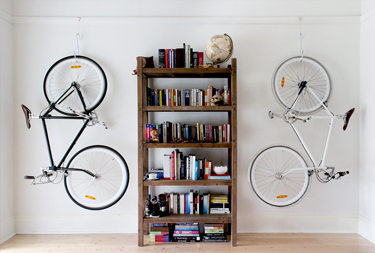How To Hang Bike On Wall 30 creative bicycle storage ideas