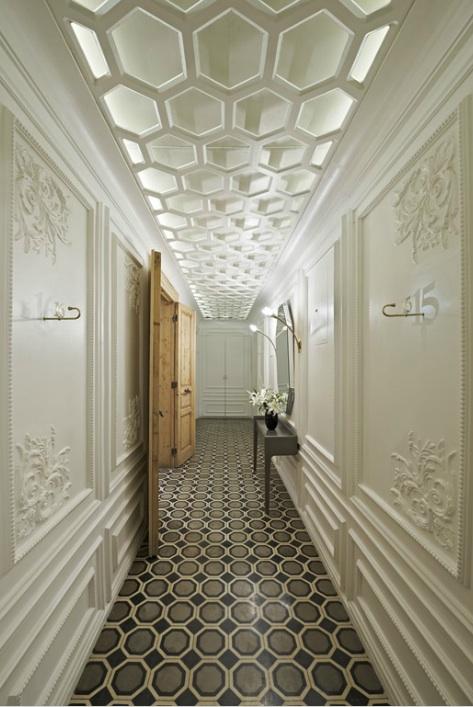 Corridor Design Ceiling: Honeycomb Home