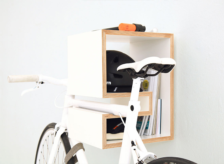 mikili white rack Bike Storage Ideas: 30 Creative Ways of Storing Bike Inside your Home