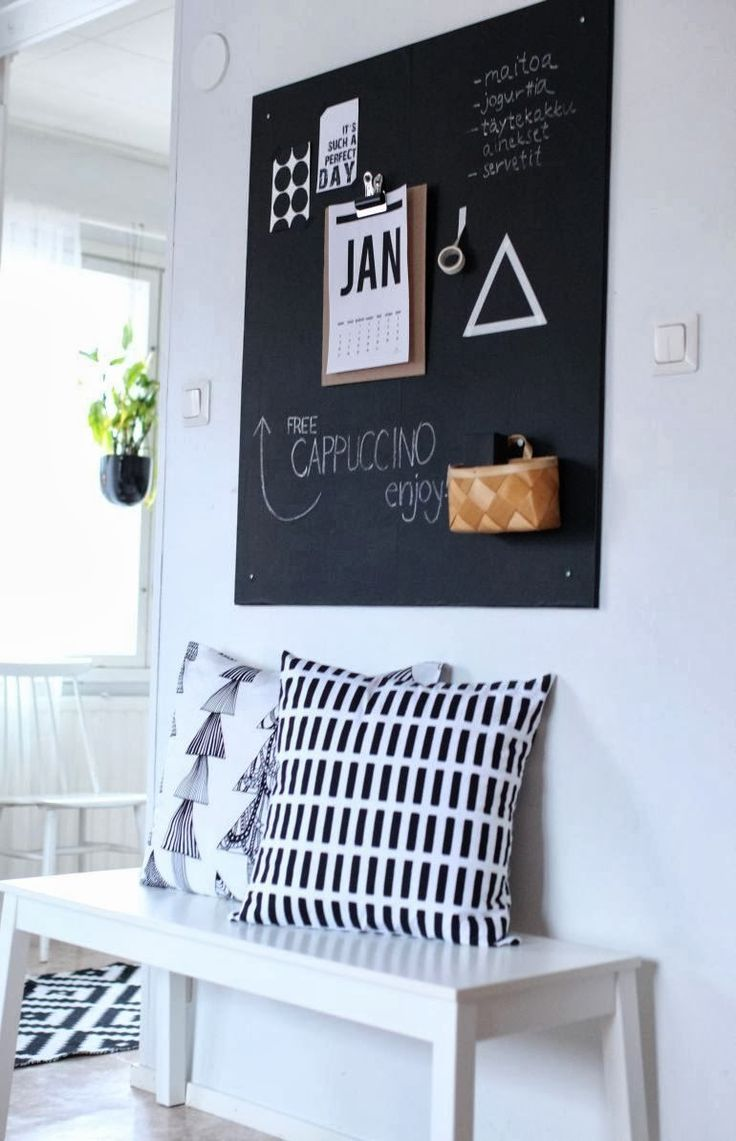 simple blackboard 32 Chalkboard Decor Ideas