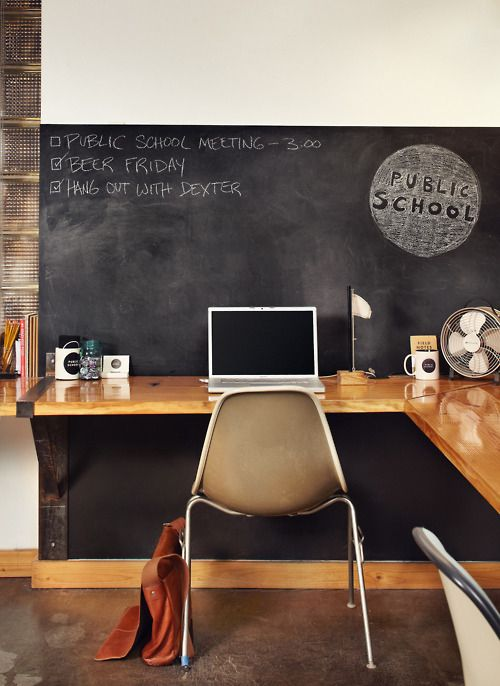 workspace blackboard 32 Chalkboard Decor Ideas