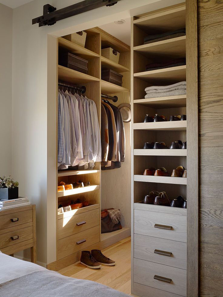 Top 40 modern walk in closets your no 1 source of for Walk in closet remodel