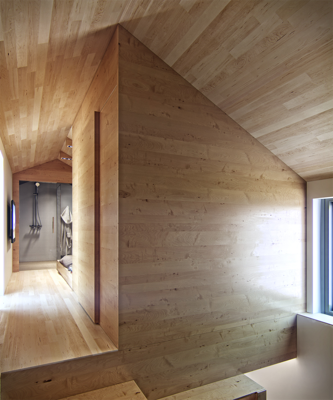 residential house reconstruction with addition of a mansard floor 6 Tiny Loft Space Apartment