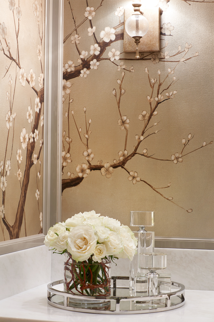 50 floral wallpaper and mural ideas your no 1 source of for Bathroom mural ideas