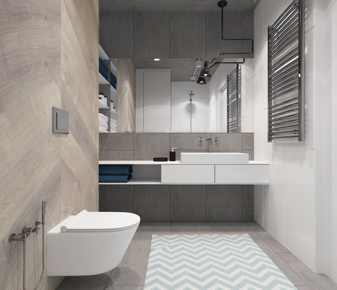 How To Create A Greyscale Bathroom: Gradient By Svoya Studio