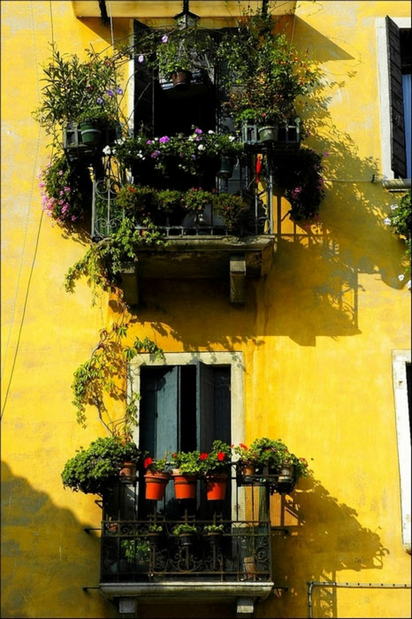 yellow balconies 35 Worlds Most Beautiful Balconies