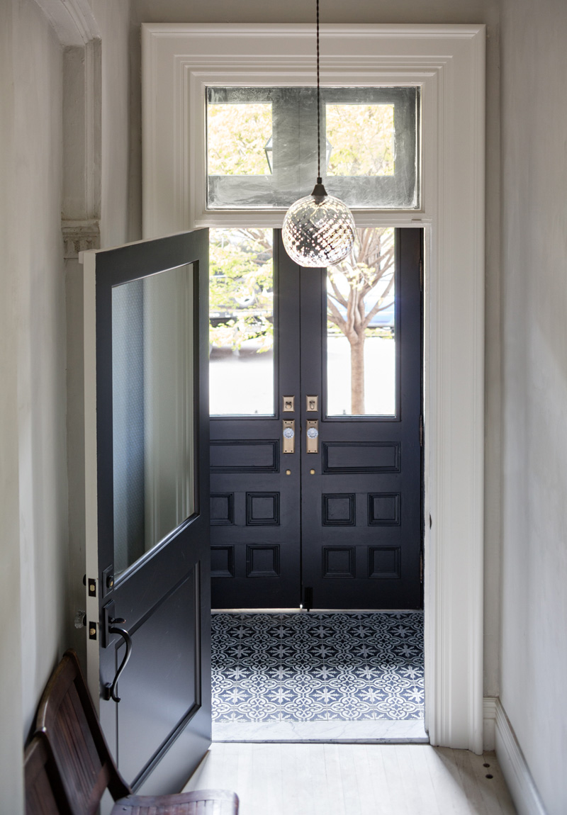 foyer vestibule 2 Moody Navy in a Brooklyn Townhouse