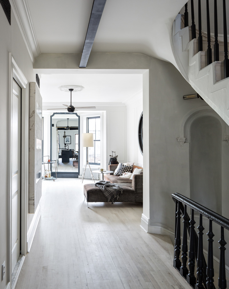 Moody Navy In A Brooklyn Townhouse Your No 1 Source Of