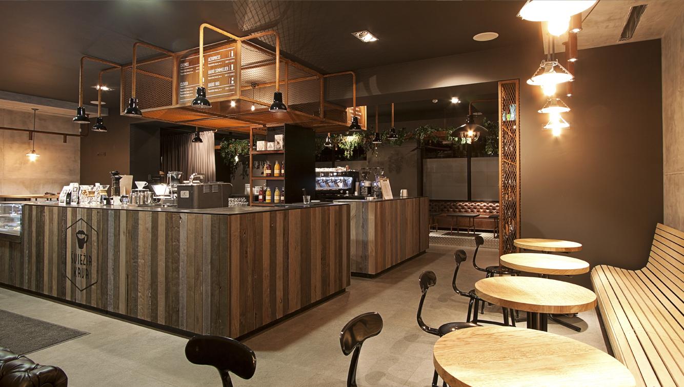 sviezia kava huracan coffee vilnius lithuania 7 Coffee Shop ŠVIEŽIA KAVA In Vilnius