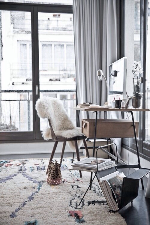 cozy fluffy Creating Inspiring Workspace