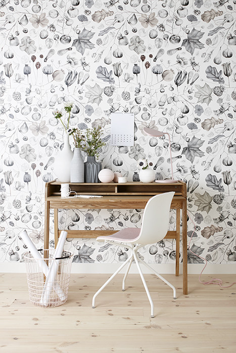patterned wallpaper Creating Inspiring Workspace