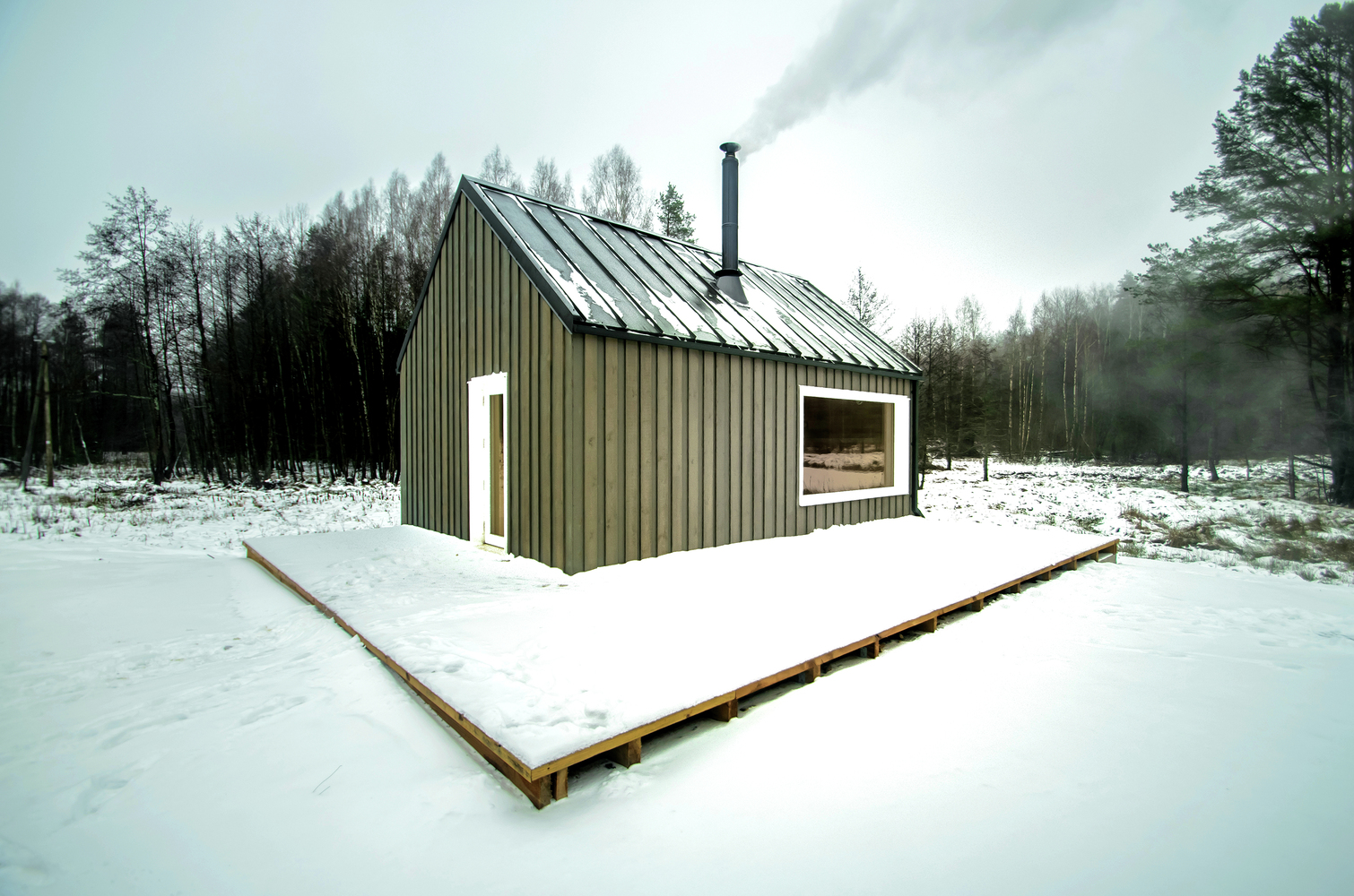 hunting house surrounded by woods in lithuania 2 Hunting House Surrounded By Woods In Lithuania