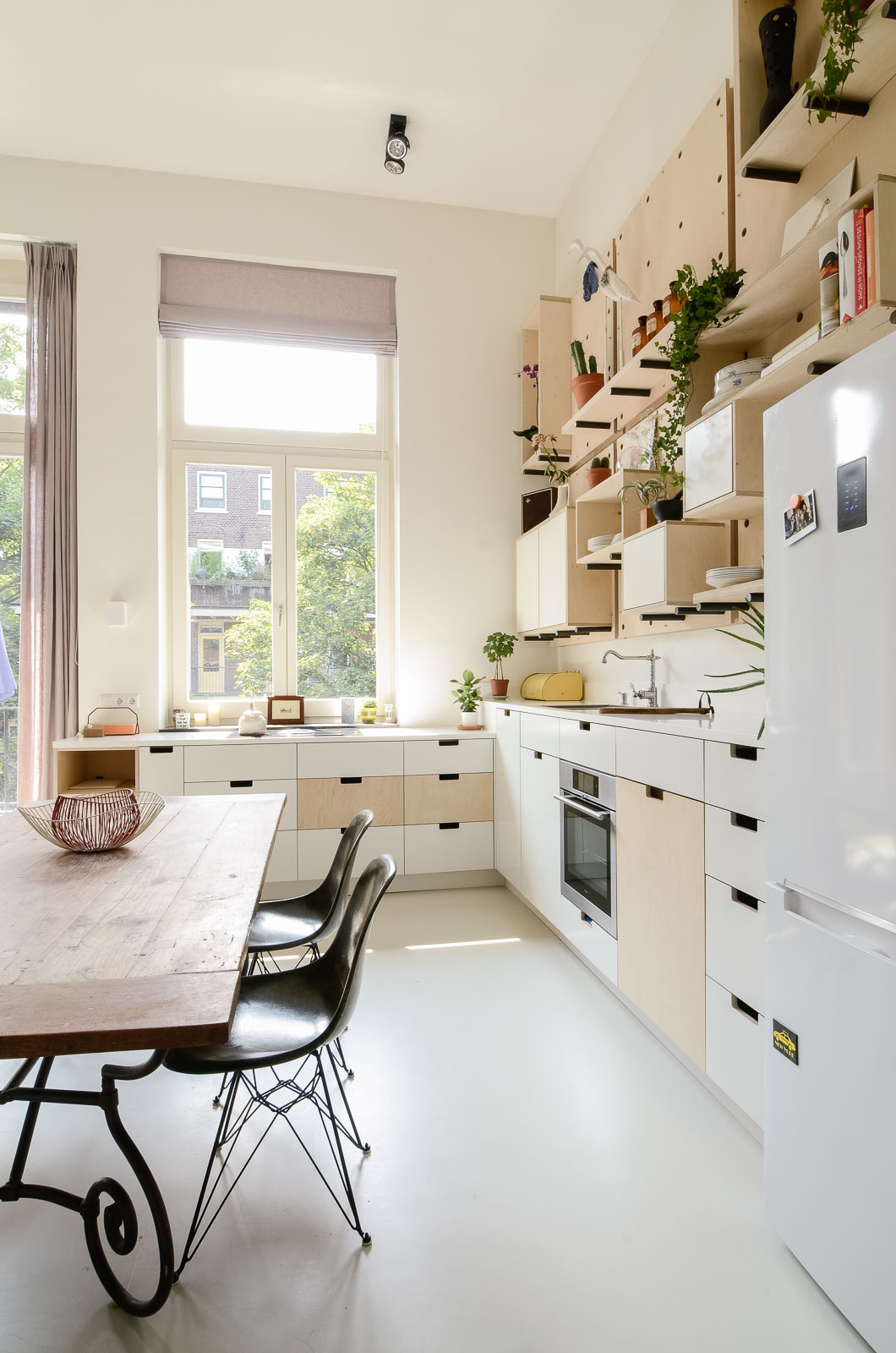 Old School Building Was Converted Into A New Apartment In