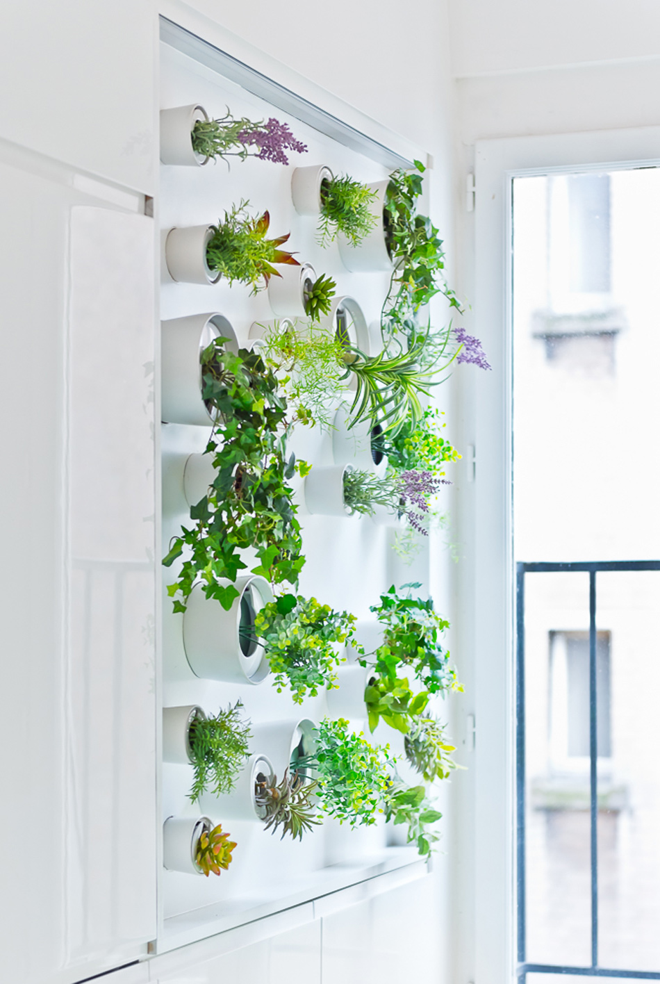 parisian apartment of a young fashion designer 16 Vertical Garden Grows In This Parisian Apartment Of A Young Fashion Designer