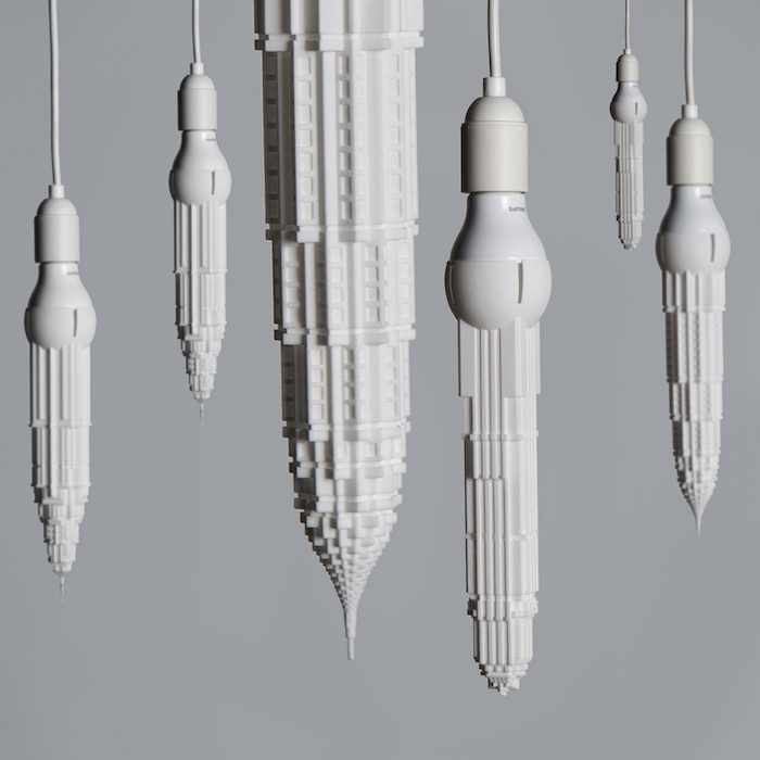 skyscraper shaped light bulbs by david graas 1 Skyscraper shaped Light Bulbs By David Graas