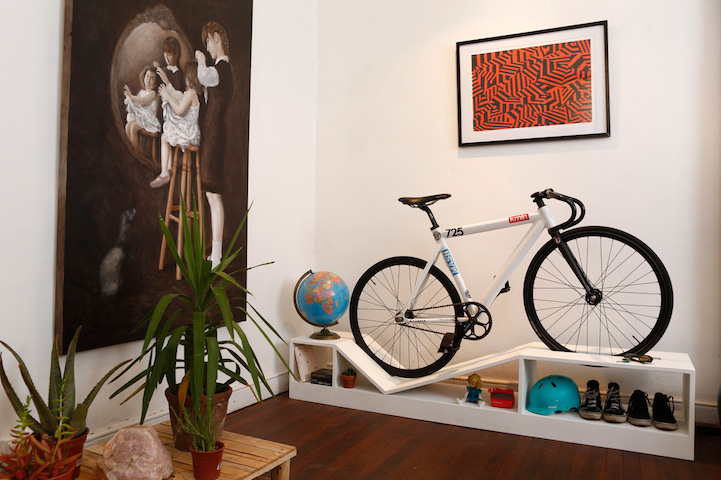 awesome bike furniture by designer manuel rossel 3 Awesome Bike Furniture By Designer Manuel Rossel