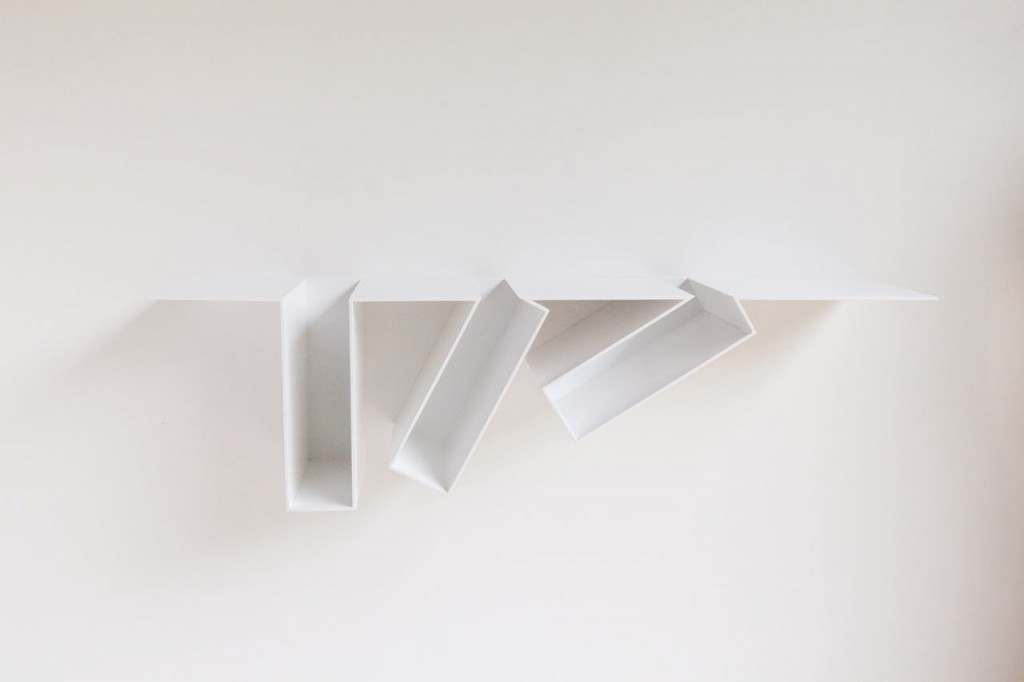 oblique bookshelf by filip janssens 2 1024x682 Oblique Bookshelf By Filip Janssens