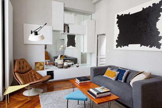 paris apartment4 Paris Apartment by Charlotte Vauvillier