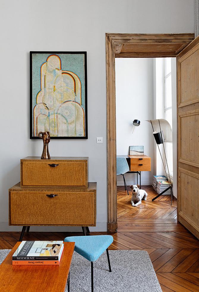 paris apartment5 Paris Apartment by Charlotte Vauvillier
