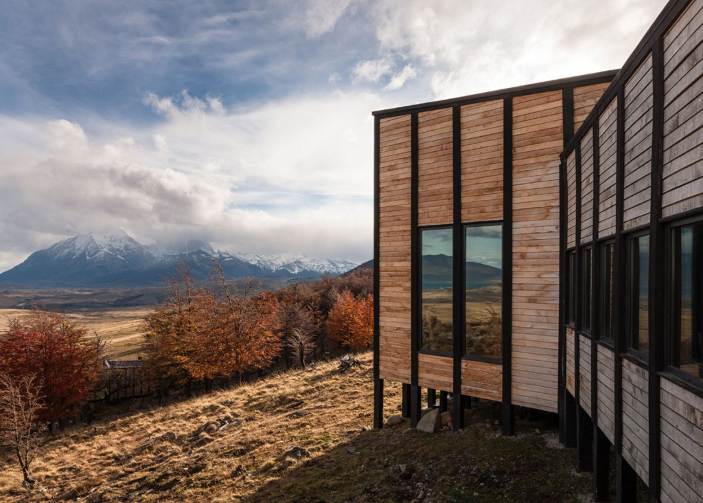 Timber Cabin Hotel Offers Beautiful Views Over The Chilean Hillside