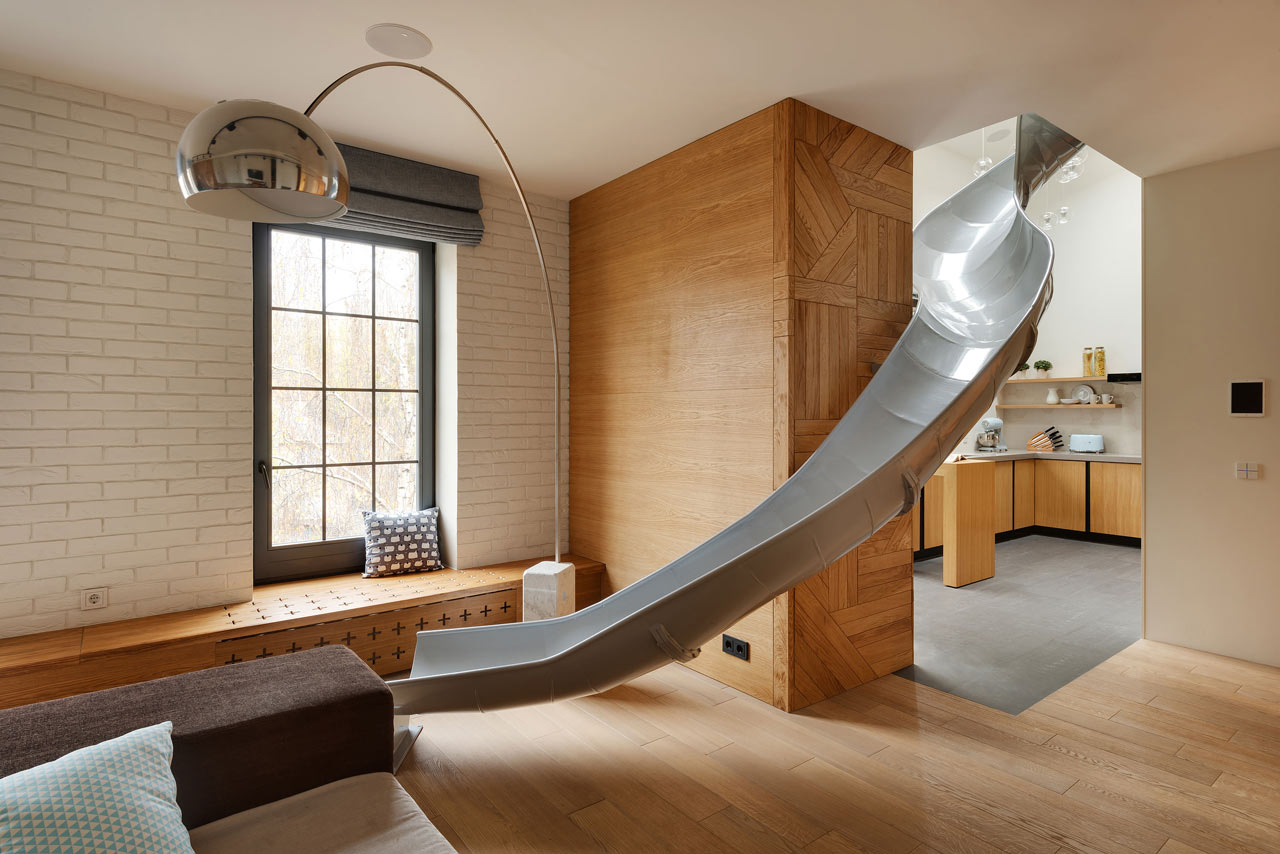 Childhood Dreams Come True A Slide Was Installed In This Awesome Apartment 9 300x200