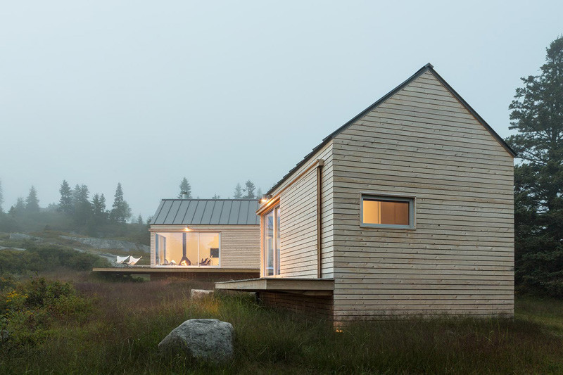 GO Logic Designed Three Tiny Cabins On An Island Of The Coast