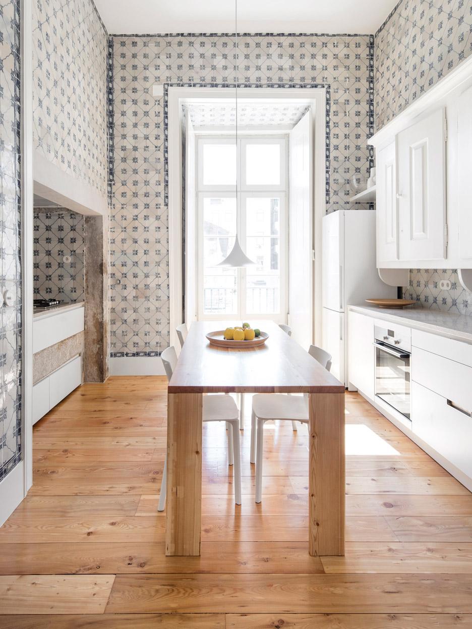 original wooden flooring was restored in this 19th century