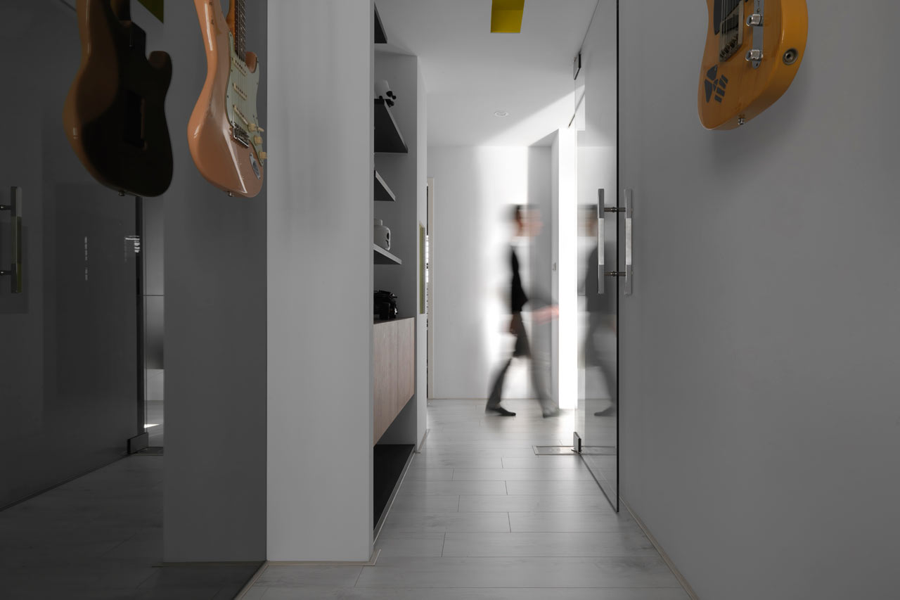 taichung h residence14 Modern Apartment with Bright Yellow Accents