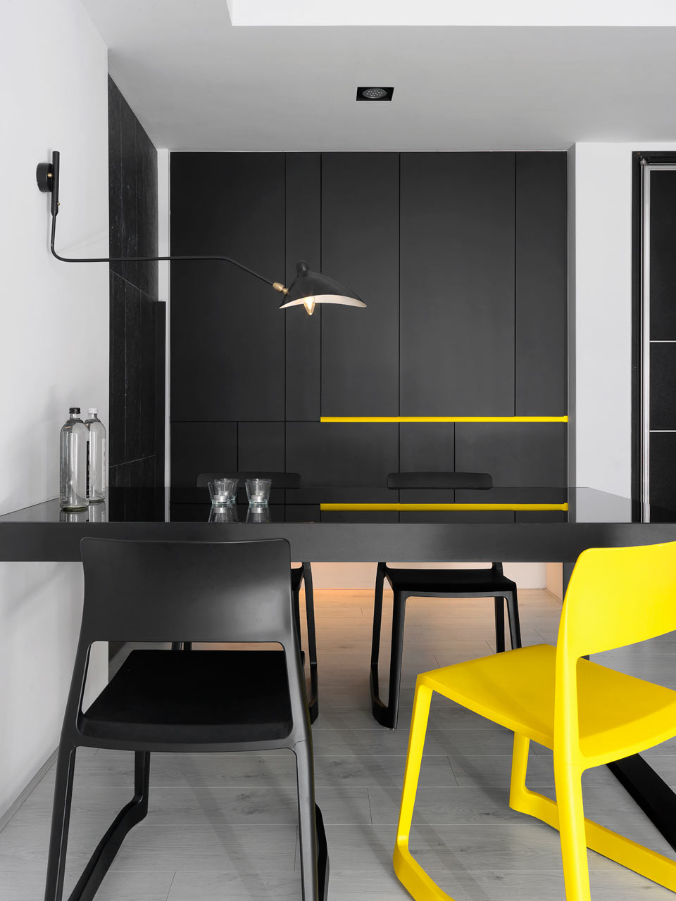 taichung h residence9 Modern Apartment with Bright Yellow Accents
